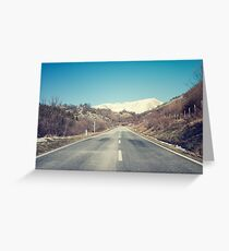 Road with mountain Greeting Card