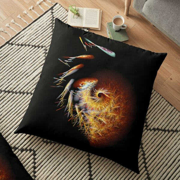 Fractal Art - Broken Heart Floor Pillow