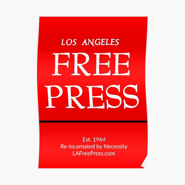 Los Angles Free Press Posters in Red Logo Poster