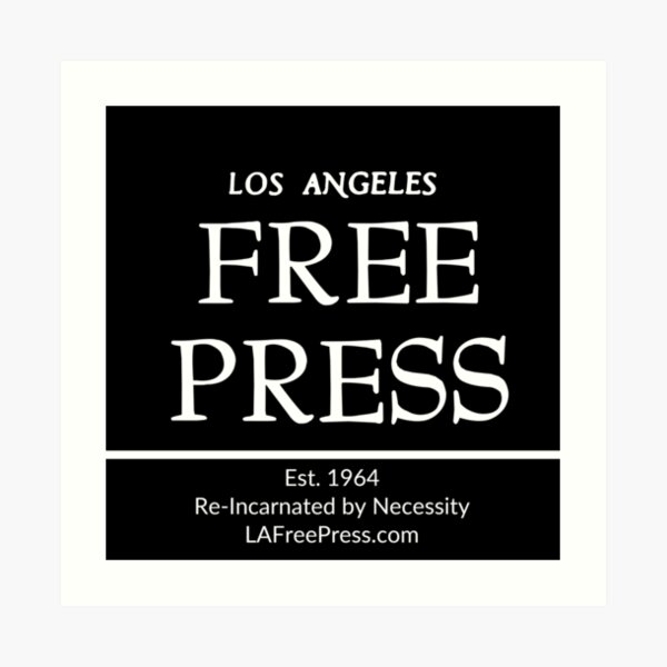 Los Angeles Free Press Art Prints in Black Logo Art Print