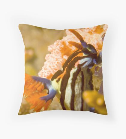 Nembrotha Purpureolineolate Nudibranch Throw Pillow