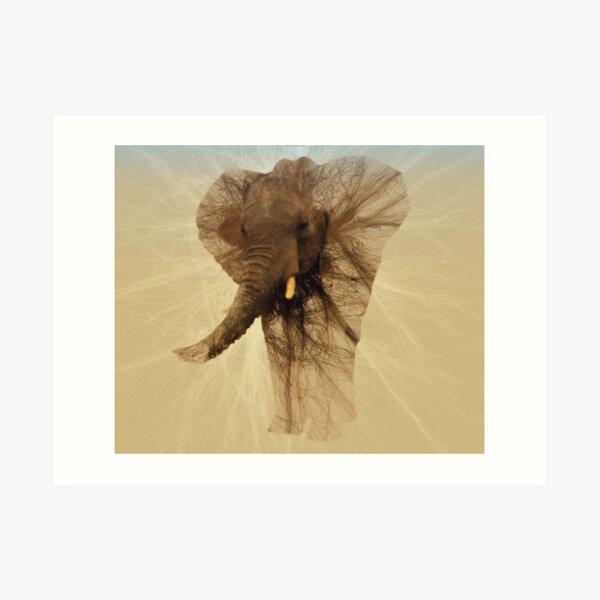 Loxodonta Africana by M.A Art Print