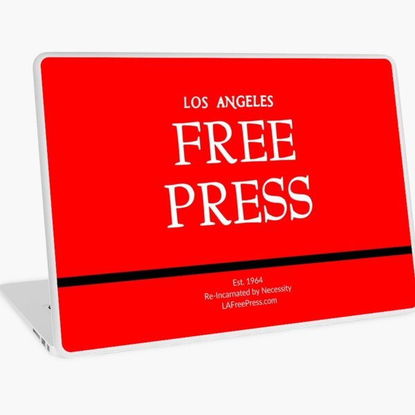 Los Angeles Free Press Laptop Skins in Red Logo Laptop Skin
