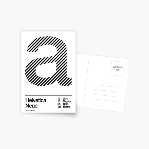 a .... Helvetica Neue (b) Postcard