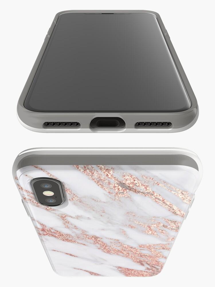 Alternative Ansicht von Blush rosa Roségold Marmor iPhone-Hülle & Cover