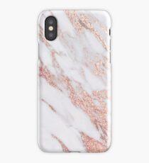 Blush pink rose gold marble iPhone Case/Skin