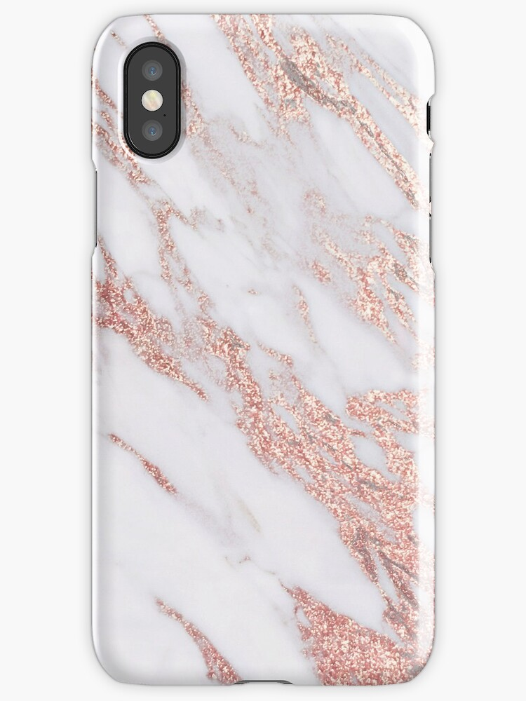 Quot Blush Pink Rose Gold Marble Quot Iphone Cases Amp Skins By