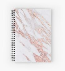 Blush pink rose gold marble Spiral Notebook
