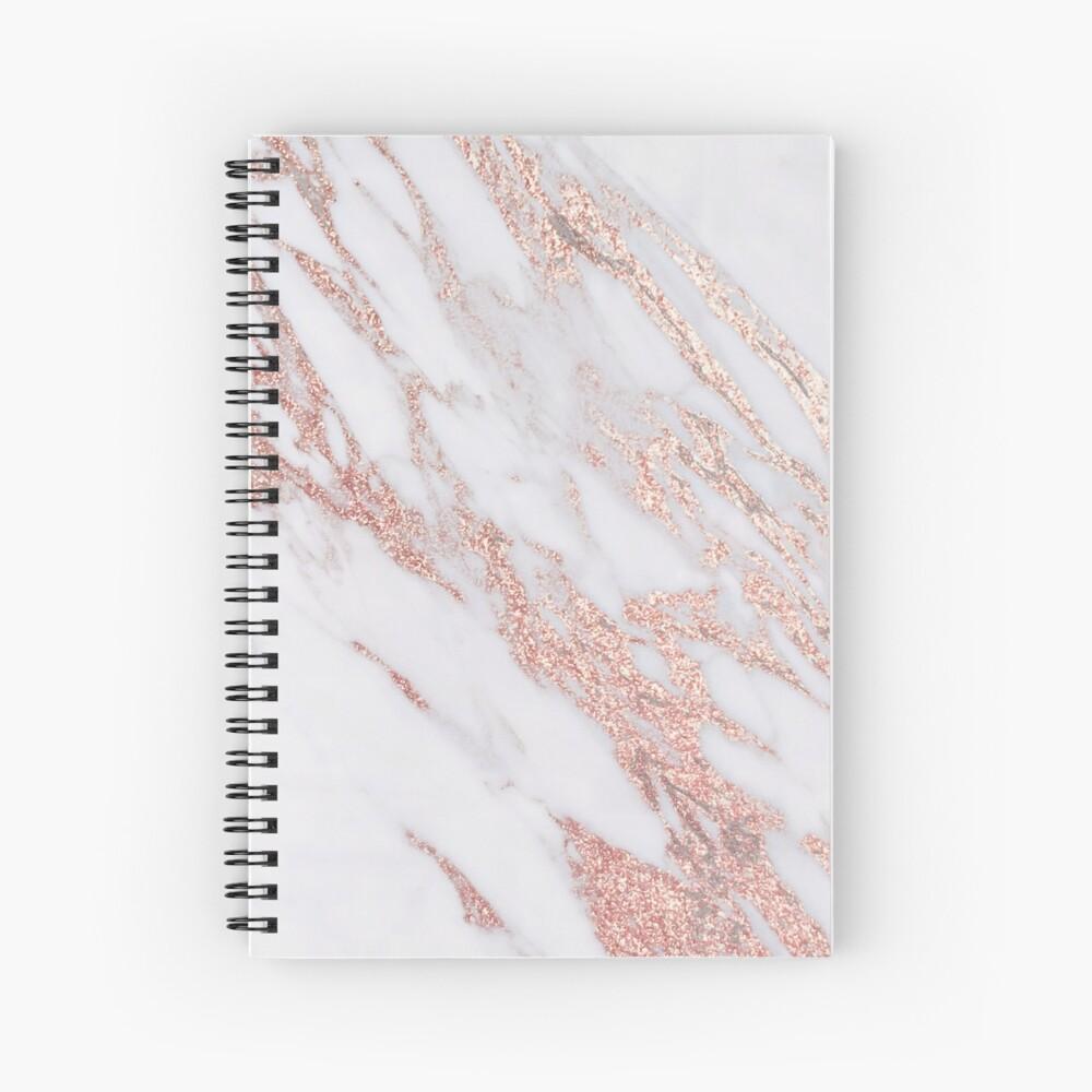 Blush pink rose gold marble Spiral Notebook