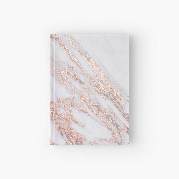 Blush pink rose gold marble Hardcover Journal