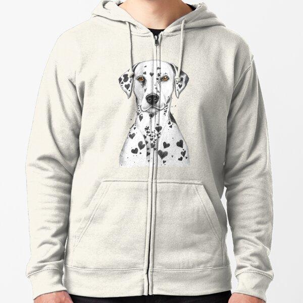 Dalmatian Zipped Hoodie