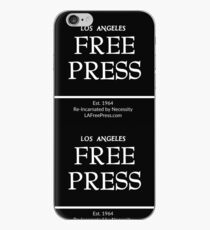 Los Angeles Free Press Phone In Black Logo iPhone Case