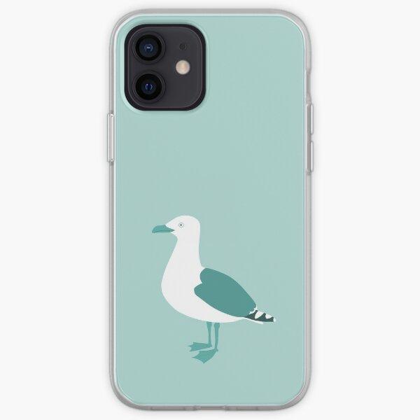 Blue seagull iPhone Soft Case