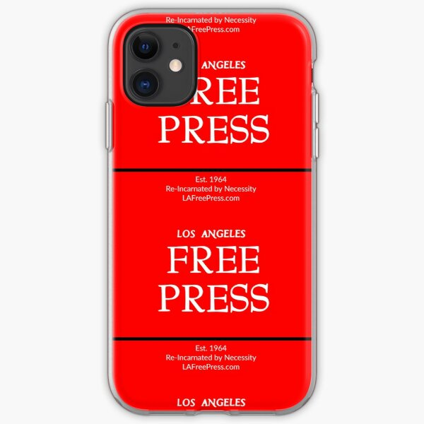 Los Angeles Free Press Phone In Red Logo iPhone Soft Case