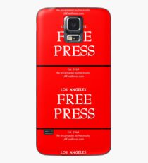 Los Angeles Free Press Phone In Red Logo Case/Skin for Samsung Galaxy
