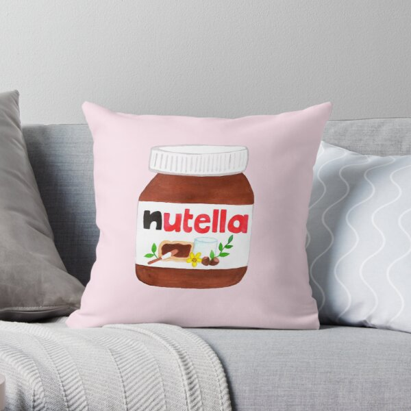 Nutella Forever - Pink Throw Pillow