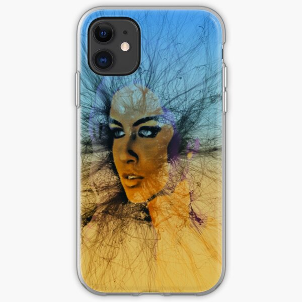 Look Into My Eyes Sky iPhone Soft Case