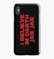 Darth Jar Jar (red, bold) iPhone Case