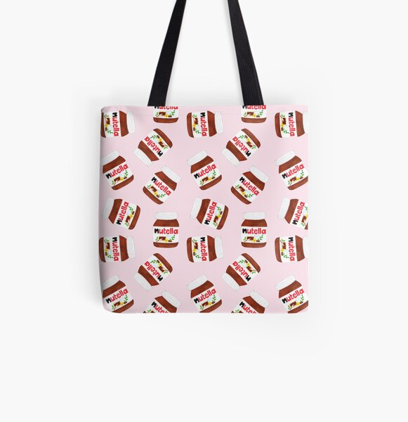 Nutella Forever - Scatter - Pink All Over Print Tote Bag