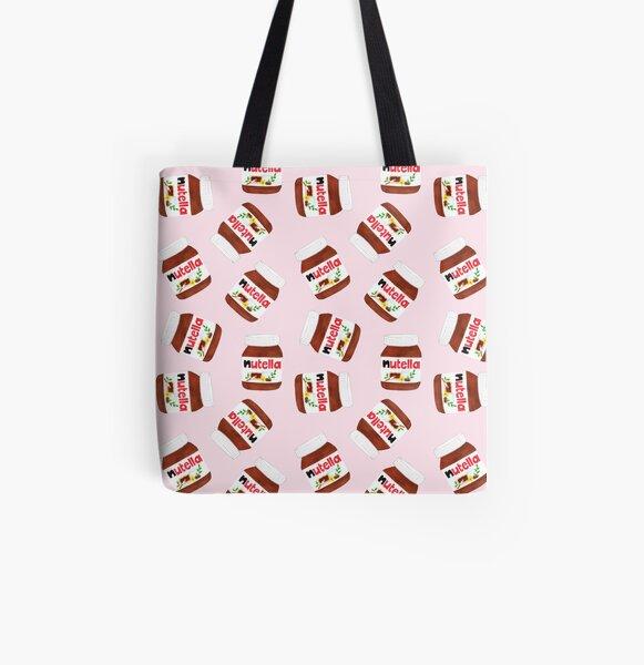 Nutella Forever - Scatter - Rosa Bolsa estampada de tela