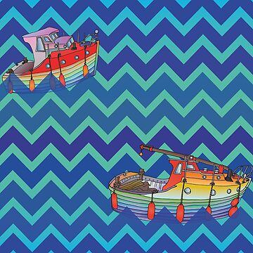 Boats on Zig-Zag Water by cosmicesoteric