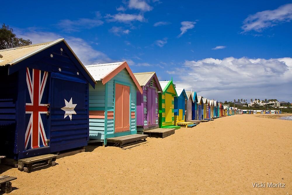 Brighton Beach bathing boxes by Vicki Moritz