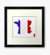 map of france Framed Print