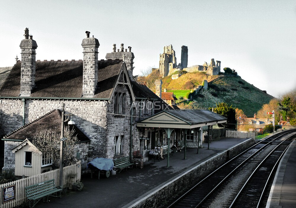 Corfe Castle Station by A90Six