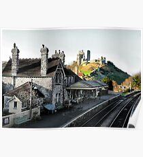 Corfe Castle Station Poster