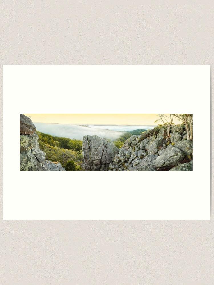 Alternate view of Mount Macedon Dawn, Victoria, Australia Art Print
