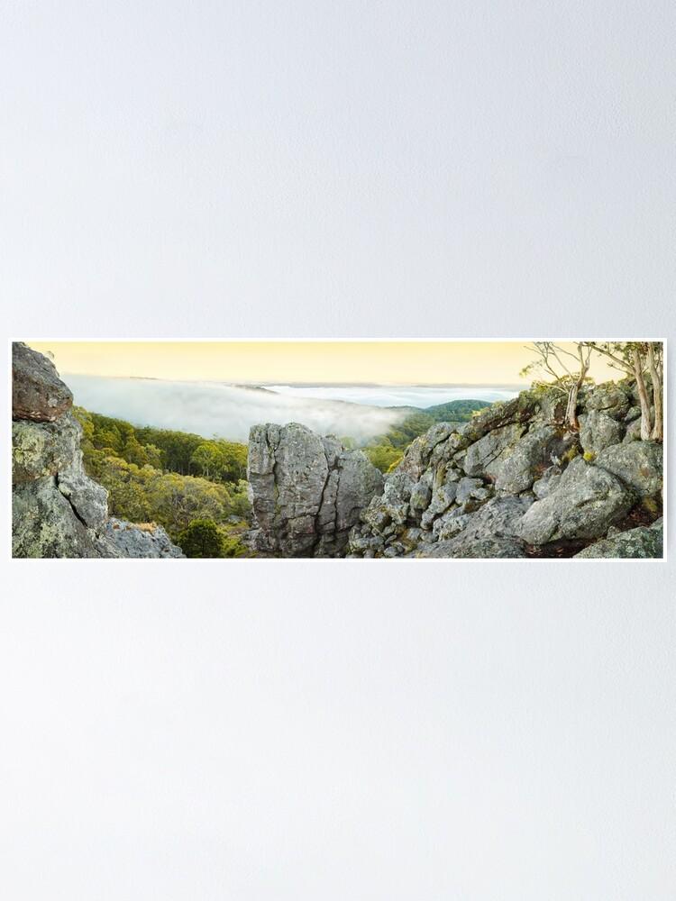 Alternate view of Mount Macedon Dawn, Victoria, Australia Poster
