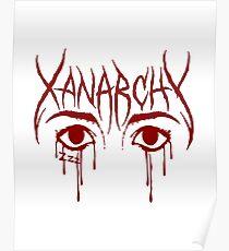 lil xan xanarchy red Poster
