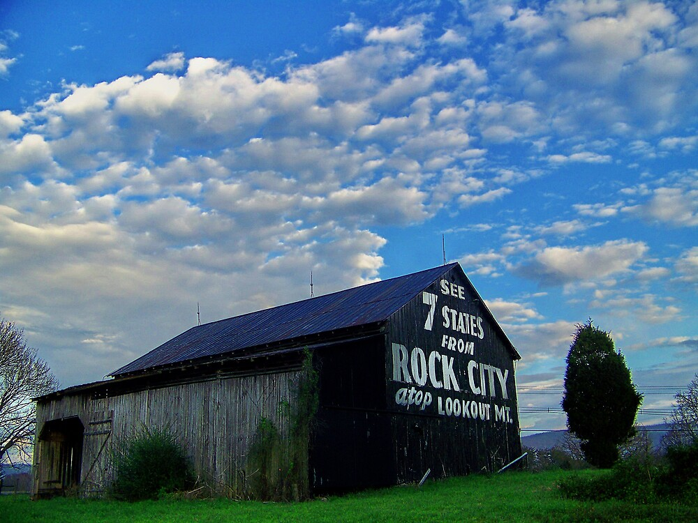 Quot Rock City Tennessee Barn Quot By Lynell Redbubble