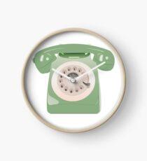 Green GPO Phone Clock