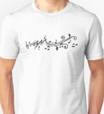 Music design with musical notes Slim Fit T-Shirt