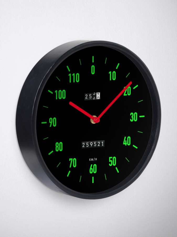 Alternate view of Retro car speedometer wall clock Clock