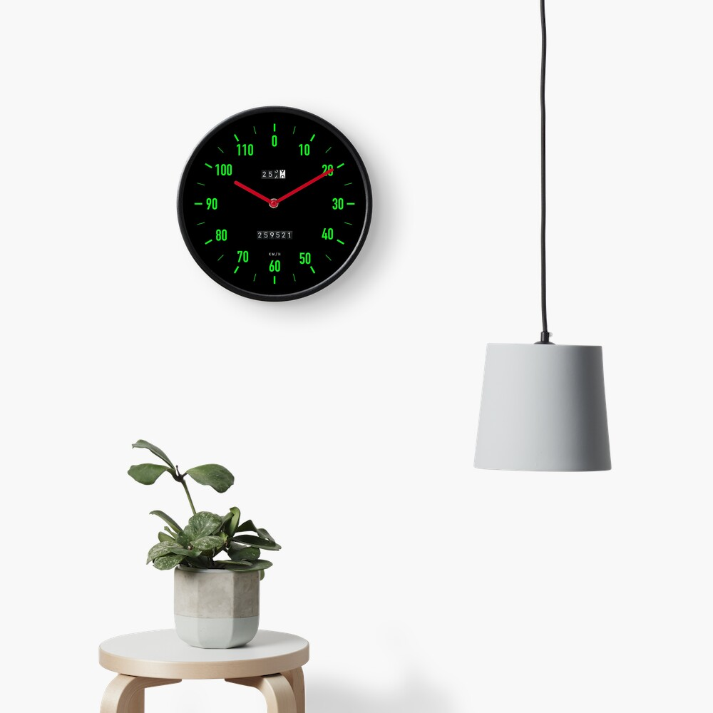 Retro car speedometer wall clock Clock