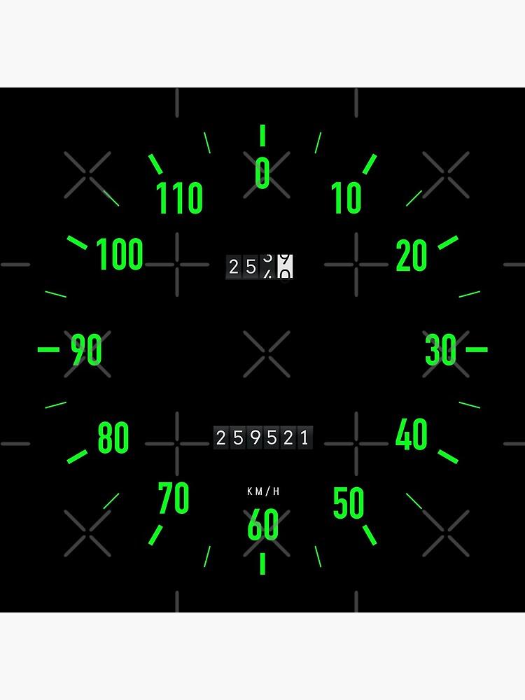 Retro car speedometer wall clock by knappidesign