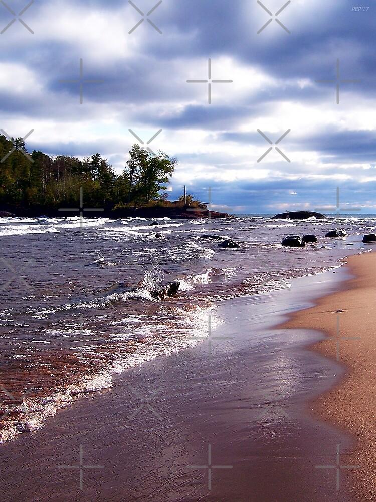 Lake Superior Shoreline by Phil Perkins
