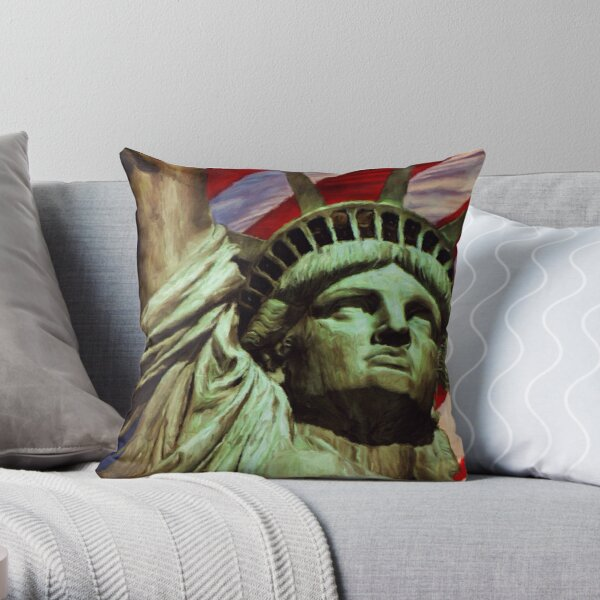 Love of Liberty by M.A Throw Pillow
