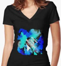 Push The Button - Gig Shirt #1 Women's Fitted V-Neck T-Shirt