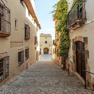 Spanish Street in Altafulla by Lanas