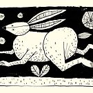 Hare, Moon & Stars by Alex G Griffiths