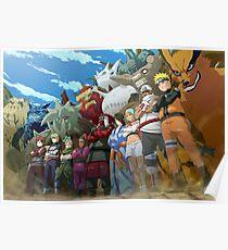 Naruto shippuden - jinchurikis y bijuus Poster