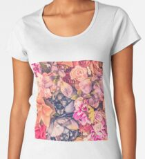 Sunset Blossoms Women's Premium T-Shirt