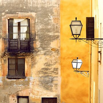 Yellow and Old Wall by Lanas