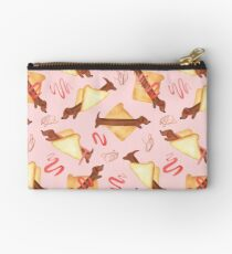 Sausage Dogs in Bread - NEW - Pink Studio Pouch