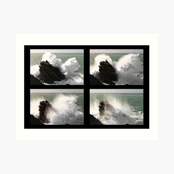 Big wave exploding in Yeu Island Impression artistique