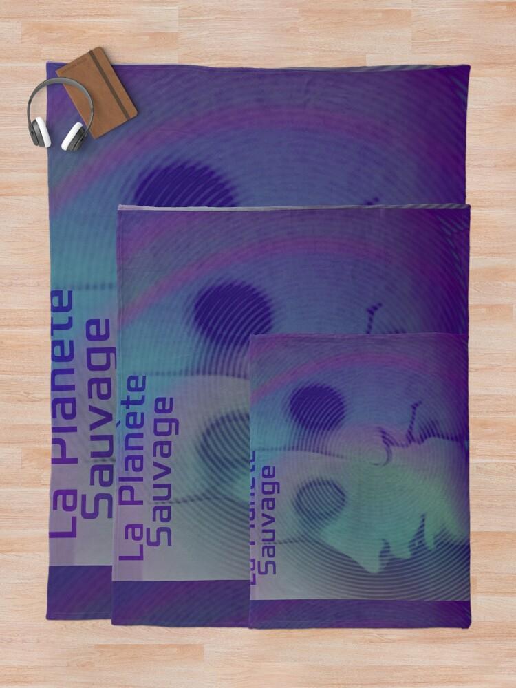 Alternate view of La Planete Sauvage -Fantastic Planet  Throw Blanket