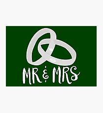 Just Married: Mr & Mrs Smoak Queen Photographic Print